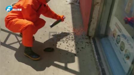"""数十个马蜂窝在校园内""""安营扎寨"""",消防员水火兼施将其摘除"""