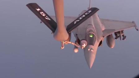 达索阵风F2战斗机空中加油技术,看完我真是心服口服
