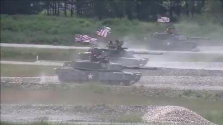 实拍美军主战坦克群定点炮射标靶,热武器的威力