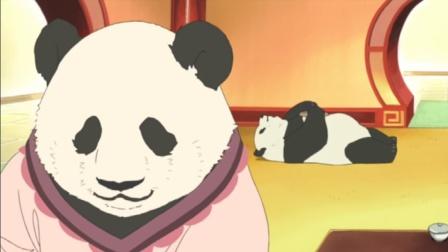 白熊咖啡厅:这只熊猫太懒,妈妈看不下去让它出去找工作~