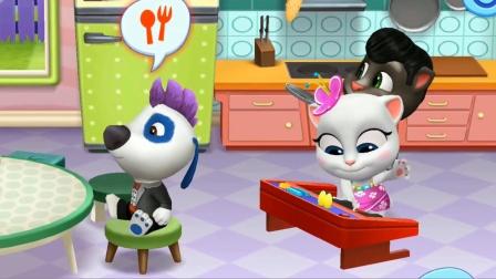 汤姆猫总动员游戏 超级美味的披萨,把汉克狗都馋哭了