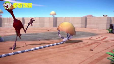 疯狂动物岛:笨鸟演绎撑杆跳,了我多年的认知