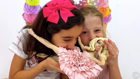 超奇怪呢!萌娃小可爱们在吃洋娃娃吗?爸爸:这不是一个好玩的玩笑