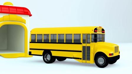 宝宝学习颜色车辆英语,圣诞树玩具小木车卡通视频,好看易学