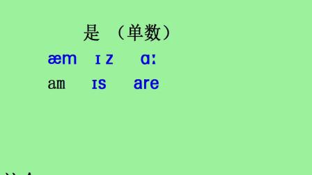 新概念英语第1册 单词是的用法,单数形式是is,复数形式是are,在我后面用am