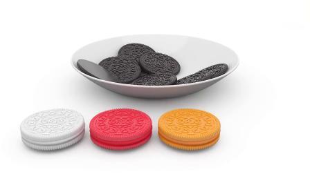 宝宝学颜色英语,看奥利奥饼干涂夹心奶油卡通视频,还能用英文对比大小