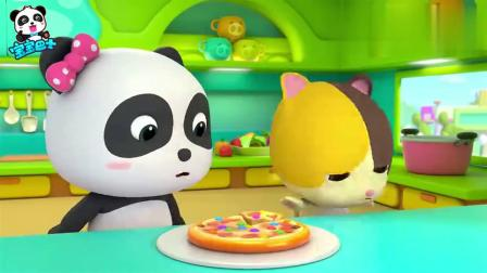 宝宝巴士:美味的披萨,妙妙放上彩虹糖,会好吃吗!