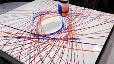 如何能证明地球在转动?小伙吊起颜料测试,画面太神奇了!
