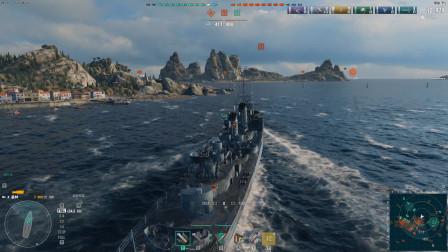 战舰世界:驱逐舰最讨厌航母了,一旦被点亮很难逃跑
