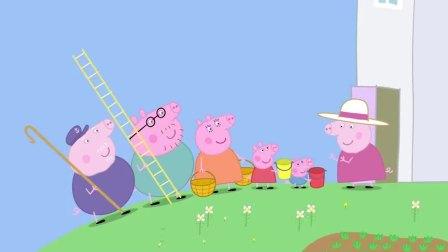 小猪佩奇猪妈做了一次睡美人,掉进荆棘丛,被猪爸救了出来