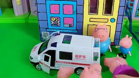 小猪佩奇玩具:怪兽种了一颗白菜和玉米