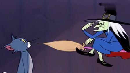 猫和老鼠:汤姆得到一把会飞的扫把,没想到却是在做梦