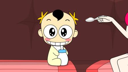 奶瓶小星:吃货的套路,搞笑动画短片