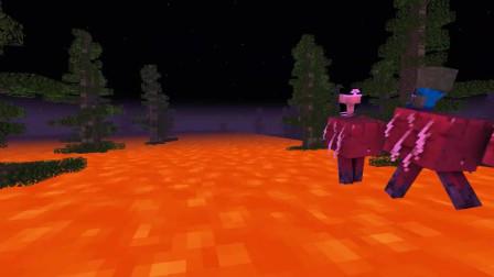 我的世界动画-怪物学院-汽笛人版地面是熔岩-MinecraftProduced