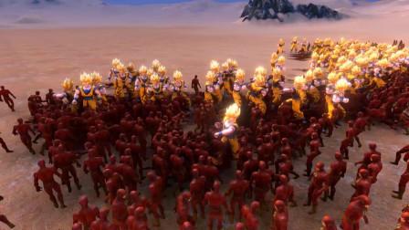 史诗战争模拟器:超级赛亚人孙悟空VS闪电侠,谁会取胜?