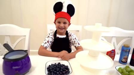 外国少儿时尚,哥哥打算做水果蛋糕,一起来看看吧