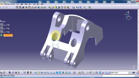 CATIA视频教程.CaTICs网络赛3D建模实例(3D08-H06)讲解.181