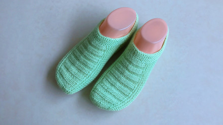 棒针浅口袜的编织方法,只用上下针编织,袜型合脚,秋冬必备图解视频