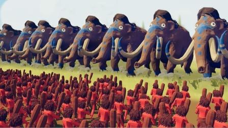 全面战争模拟器:小小兵种挑战赛,用小木棒能打败猛犸象吗?
