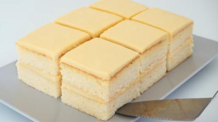 入口即化夹心蛋糕自己在家做,松软爽口,没有添加剂孩子吃着放心