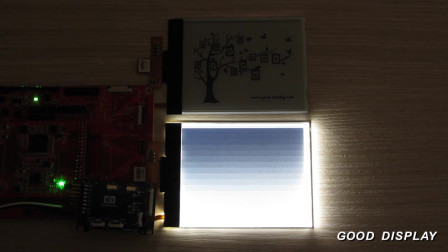 4.3寸单色电子纸显示屏含前置光点亮演示视频 GDE043A2-FL