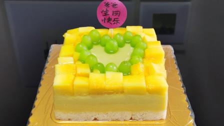 """""""水果加牛奶""""教你自制""""水果蛋糕"""",无添加、营养足,简单好吃"""