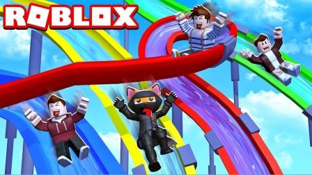 阿火解说roblox罗布乐思:水上乐园模拟器,玩的太开心了