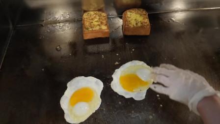 大蒜培根芝士三明治-韩国街边小吃
