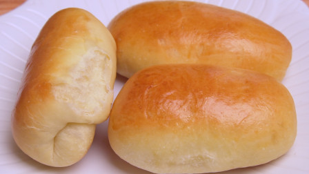 家庭版淡奶油小餐包,松软香甜又拉丝,做法超简单,比买的还好吃