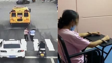 女子闯灯过马路被劝后给女警一巴掌 警帽都被打掉了 已被刑拘