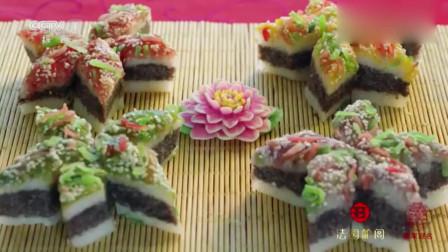 """舌尖上的中国:""""重阳糕""""是南方人用米做出来的糕点,香糯细腻让人垂涎三尺"""