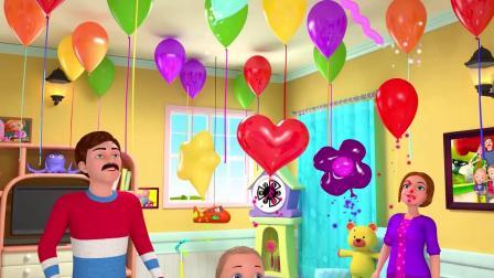 79玩气球生日歌曲送礼物,英语早教启蒙儿歌童谣!