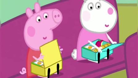 小猪佩奇:羚羊夫人带孩子们到山顶野餐,佩奇等不及想要先吃了