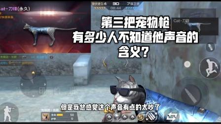 CF手游:忧君测试喵枪,很多人都不知道这把枪声音的含义吧