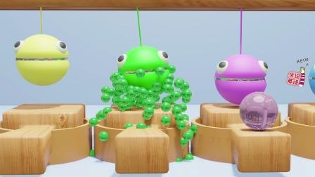 青蛙豆豆人吃水果跳跳糖,猜它吐出了什么?宝宝学说一周中的7天