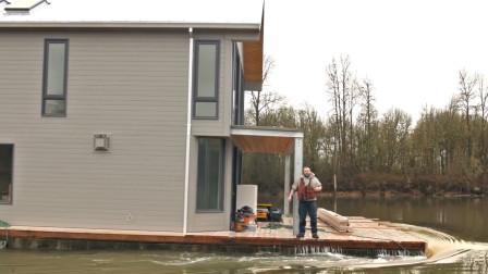 世界上最不怕洪水的房子,能够随水漂浮,可升至13英尺高空!