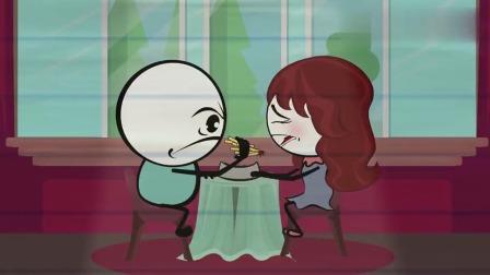 搞笑铅笔动画:铅笔人恶搞老婆,结果反被老婆套路