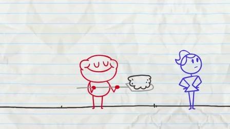 搞笑铅笔动画:这盆鲜花本该送美女,这下尴尬了!