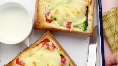 厚厚的料超足!吐司盒子厚披萨的做法
