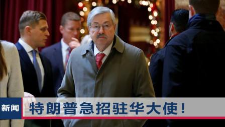 """美国驻华大使要离任?曾任美州长20年,或成为特朗普""""资产"""""""