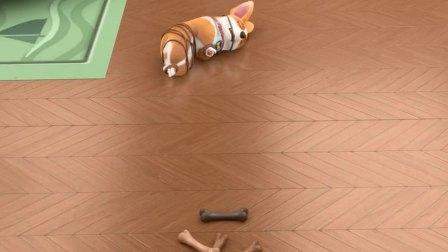 宠物店的小秘密:moco碰了一下巴顿的骨头
