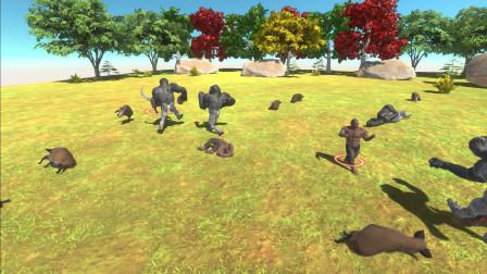 动物起义模拟器:猿的崛起,猿猴大军!