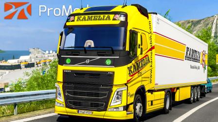 欧洲卡车模拟2 #349:在波黑和克罗地亚间反复横跳 KAMELIA公司沃尔沃FH500 | Euro Truck Simulator 2