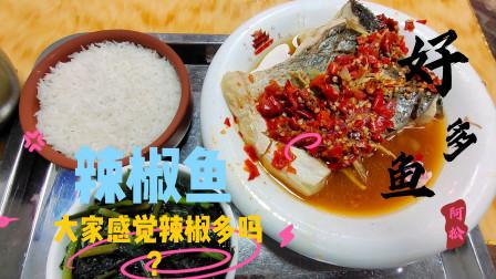 在广州番禺区,17块钱的一餐辣椒鱼,大家感觉这菜怎么样呢?