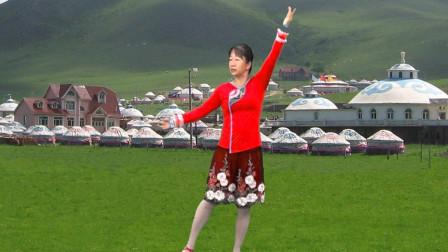 宇美广场舞原创《草原醉了你和我》正、背面演示及口令教学