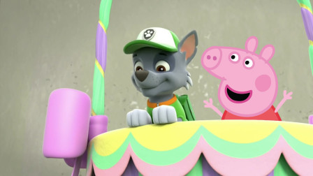小猪佩奇和汪汪队立大功灰灰一起坐热气球