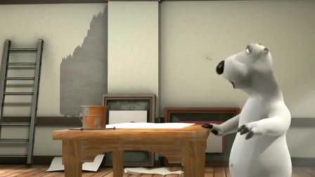 贝肯熊:贝肯打算补墙,结果涂不上胶水