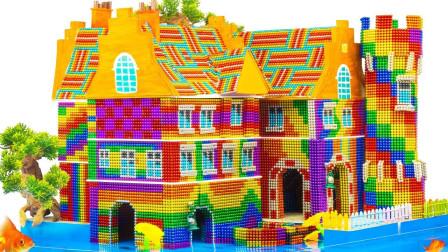拼搭水上巴克球小城堡模型