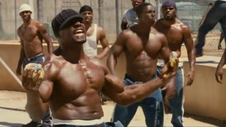 在内和黑人囚打篮球,被打到流血还不算规