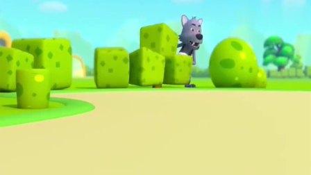 少儿宝宝巴士:大灰狼开着捣蛋车,抢走了小猫咪的棒棒糖逃走了